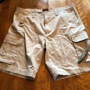40 St. John's Bay Men's Shorts in classic stone